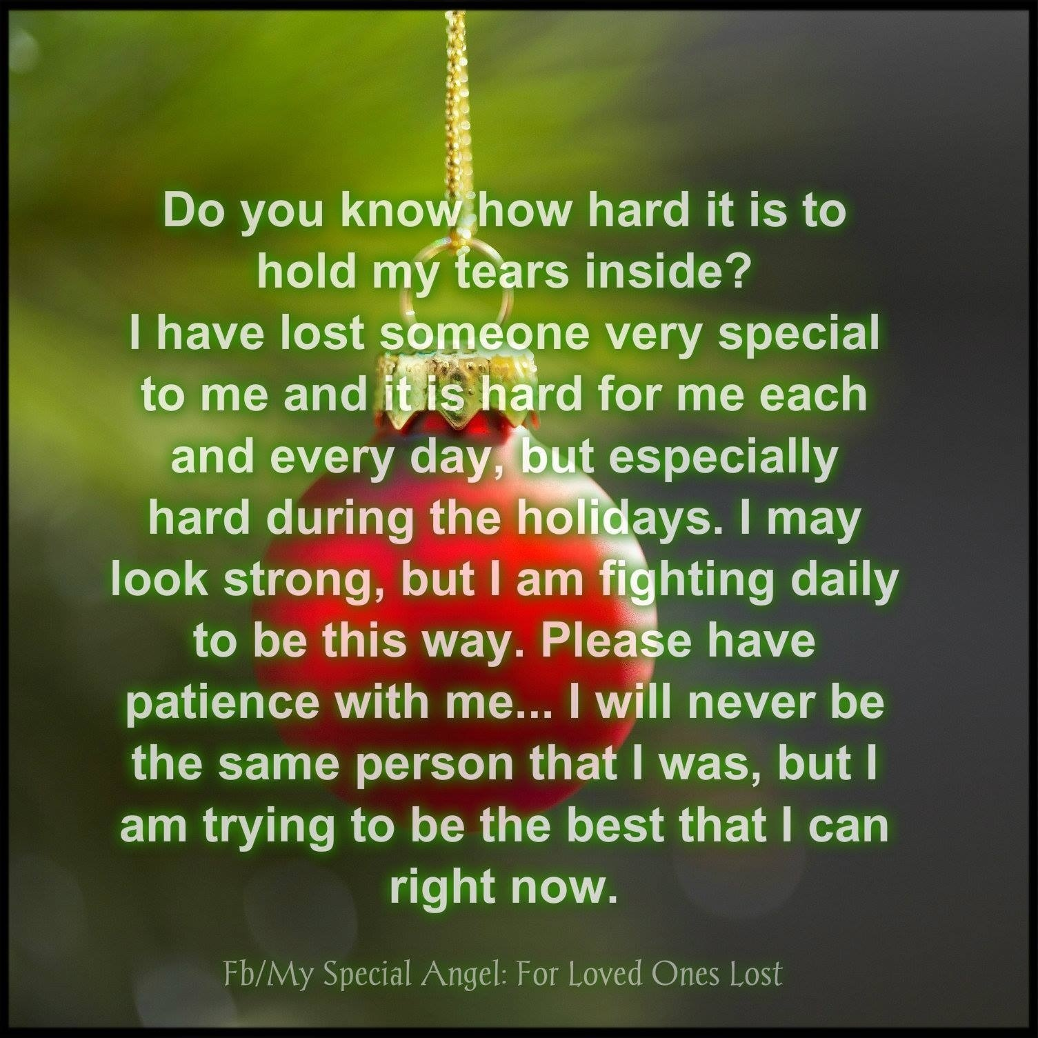Christmas Quotes Loss Loved One: A Mother's Grief And Learning To